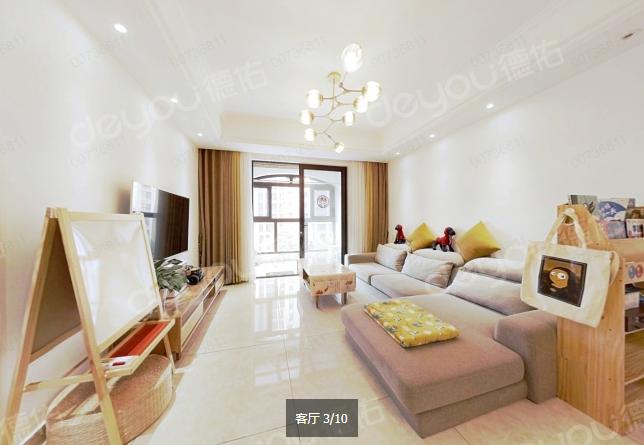 华瑞晴庐,89方平层送28方,精装好户型,319万,3房2厅2卫