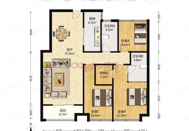 满二唯一住房 98平朝南 电梯房 居家自住 保养 看房方便