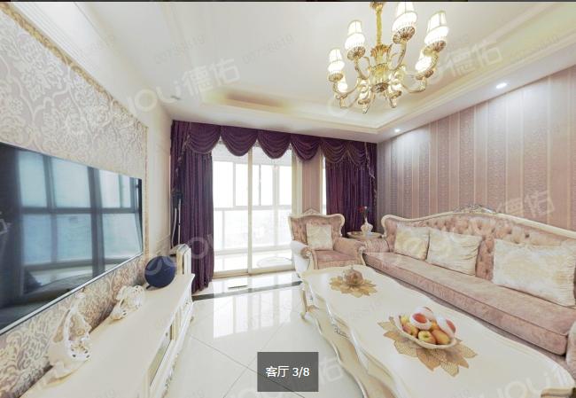 品质小区 满五唯一 博奥城最好的户型 豪装89方 城售价425W