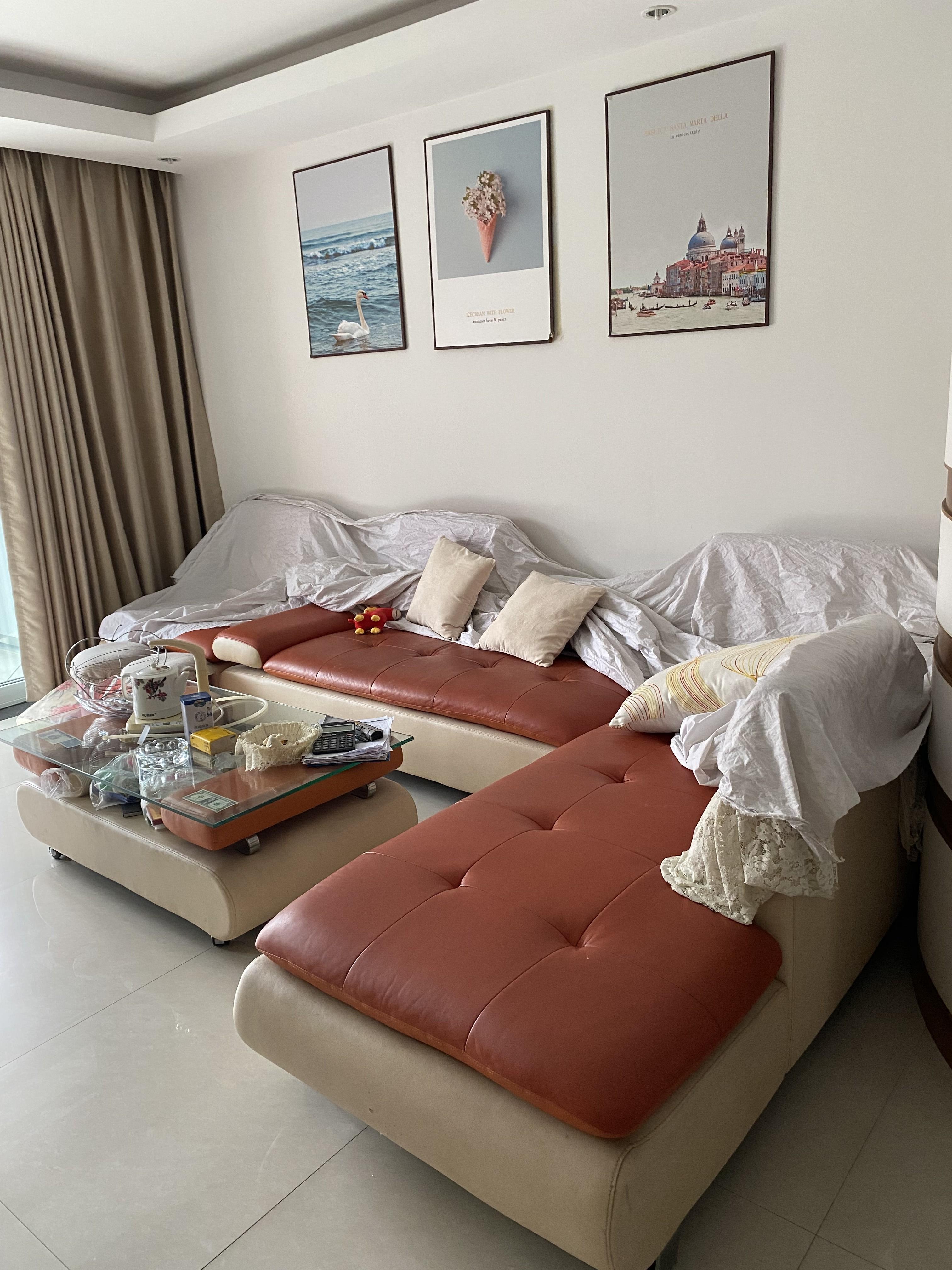临浦都市春天,精装修房子出租,3房2厅2卫,家电、家具设施齐,可以拎包入住
