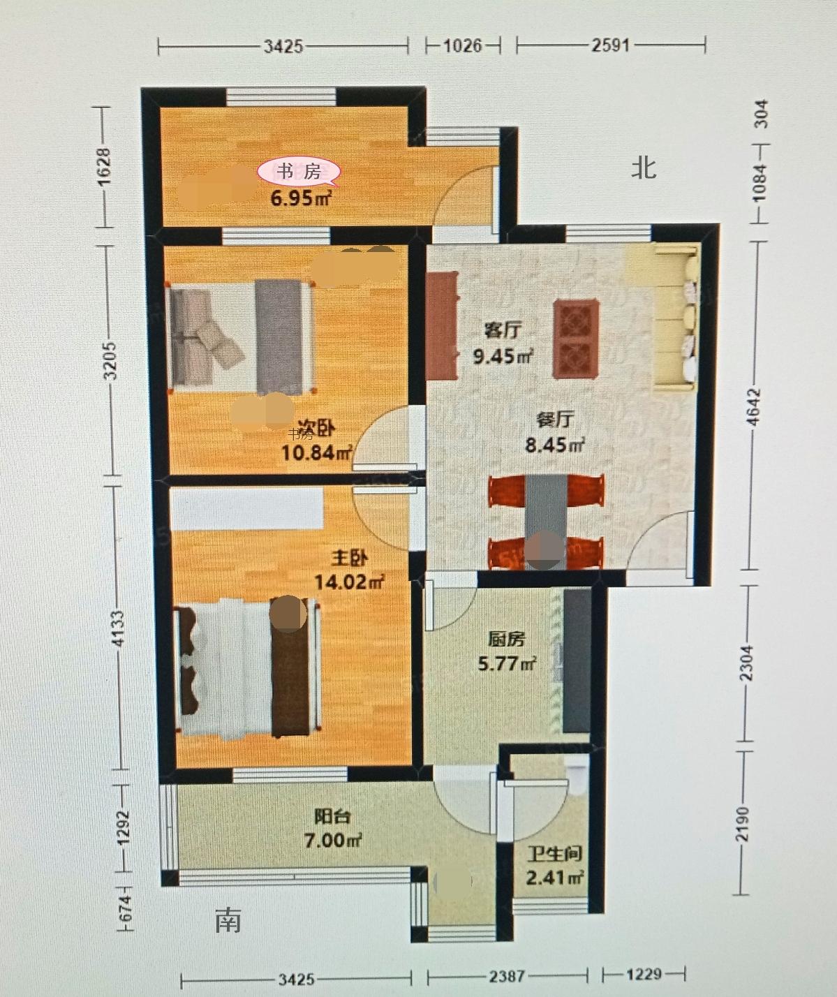 3室2厅低总价名校学区房,高桥初中湘师实验小学